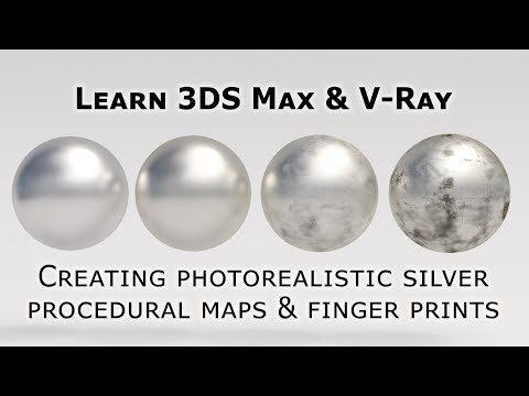 Photorealistic silver in 3DS Max and V-Ray with procedural textures & fingerprints