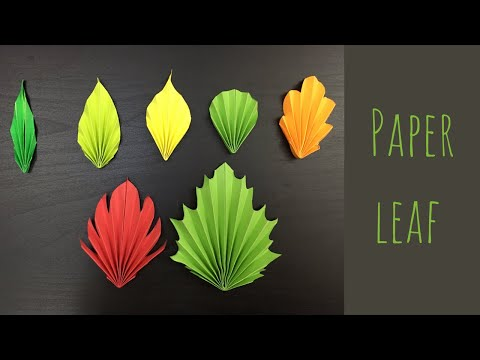 7 Easy And Simple Paper Leaves || Fall Decoration Ideas || Autumn Leaves