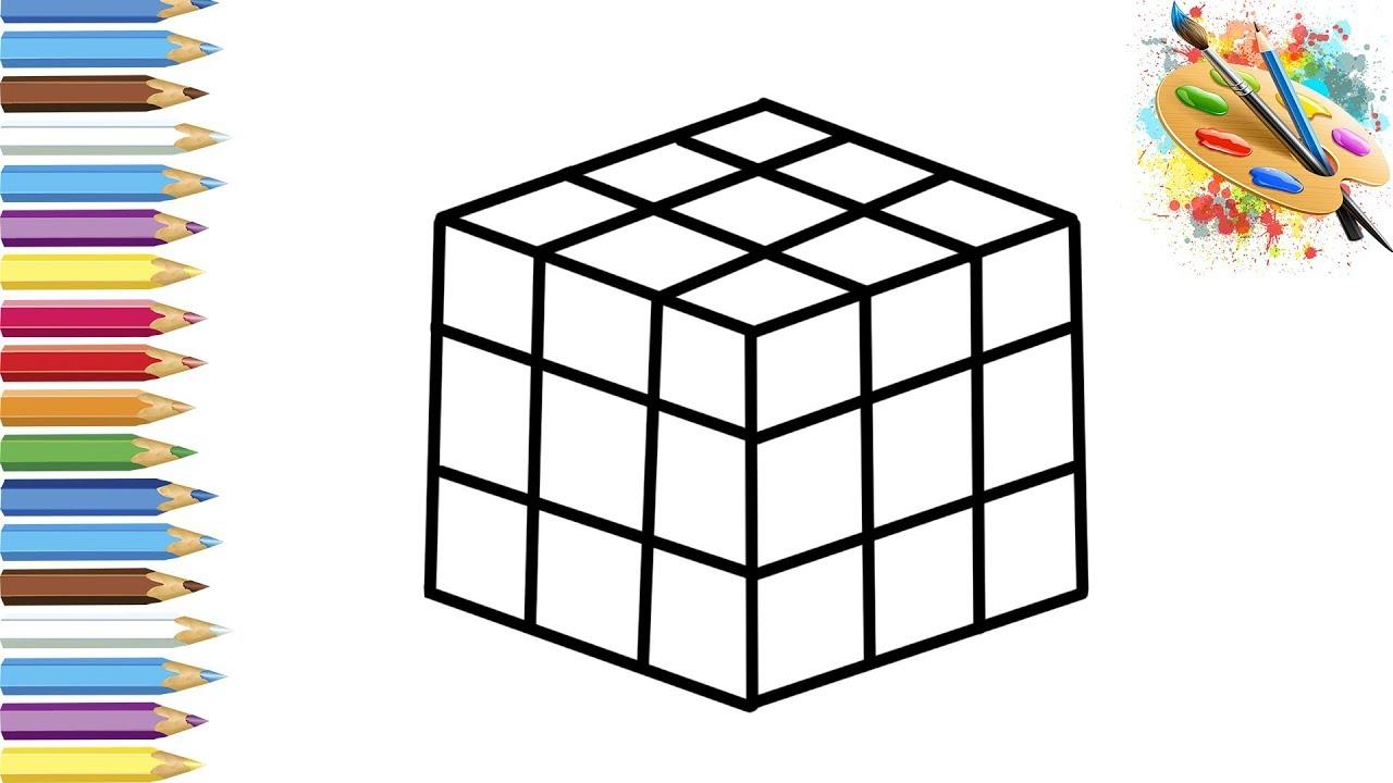 раскраска для детей кубик рубика мультик раскраска учим цвета I развивашка валеник