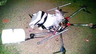 Drug Smuggling Drone Crashes in Parking Lot!