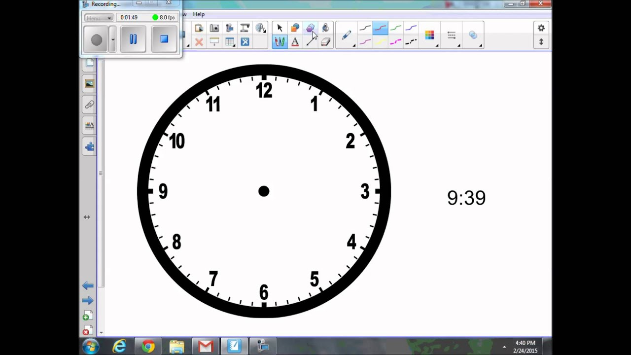 Drawing Hands On A Clock