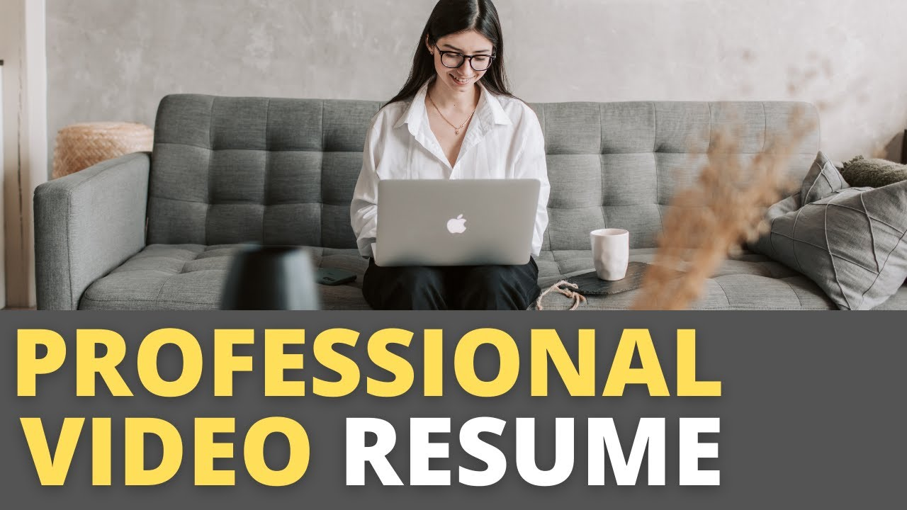 Professional Video Resume Example Template