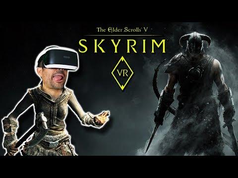 EXPLORANDO SKYRIM VR - DRAGONES Y OTRAS BESTIAS   PS4 Pro y PSVR Gameplay en Español