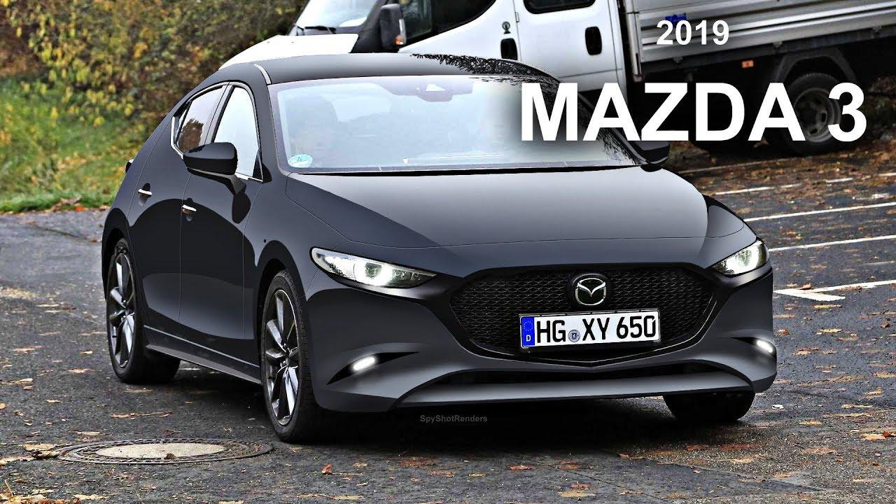 2019 mazda 3 - spy shot render preview