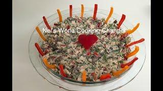 Smoked chicken salad - Ապխտած հավի մսով աղցան - Салат с копченой курицей