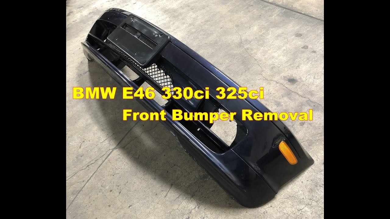 I Engine Diagram Front Bumper Cover Removal Bmw E46 330ci 325ci Youtube