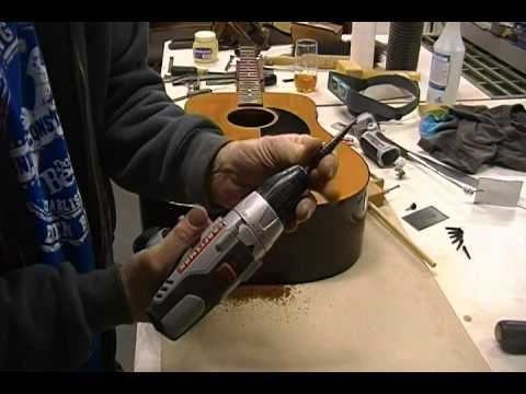 Gibson acoustic guitar LR Baggs Lyric pick up install #2