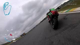 2º Etapa SuperBike Brasil SuperSport Escola Interlagos 14042019 onboard Piloto Alex Penholato