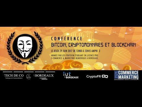 Conférence : Bitcoin, Cryptomonnaies et Blockchain