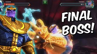 Gauntlet Thanos Uncollected - Final Boss First Attempts (Rekt) - Marvel Contest Of Champions