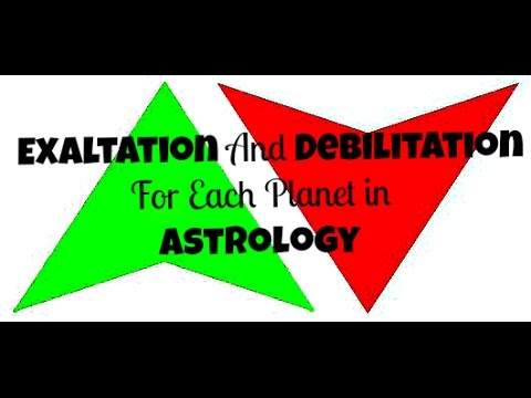 Exaltation and Debilitation for Each Planet In Astrology