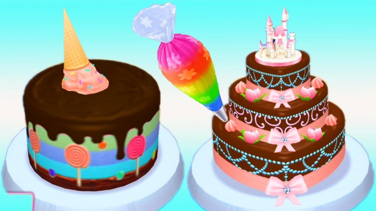 Permainan Anak Masak Masakan Membuat Kue Ulang Tahun Youtube