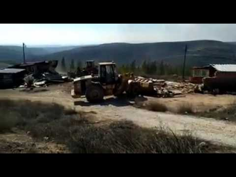 Demolition of Amona begins (Via Media Resource Group)