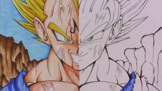 Drawing Majin Vegeta | Goku | SSJ2 | Dragonball Z | TolgArt