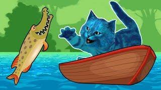 КОТЁНОК ловит РЫБУ игра симулятор кошачей рыбалки Cat Goes Fishing КОТЁНОК ЛАЙК