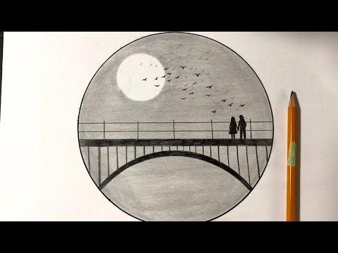 Vẽ Tranh Phong Cảnh Bằng Bút Chì Đẹp   how to draw scenery with pencil