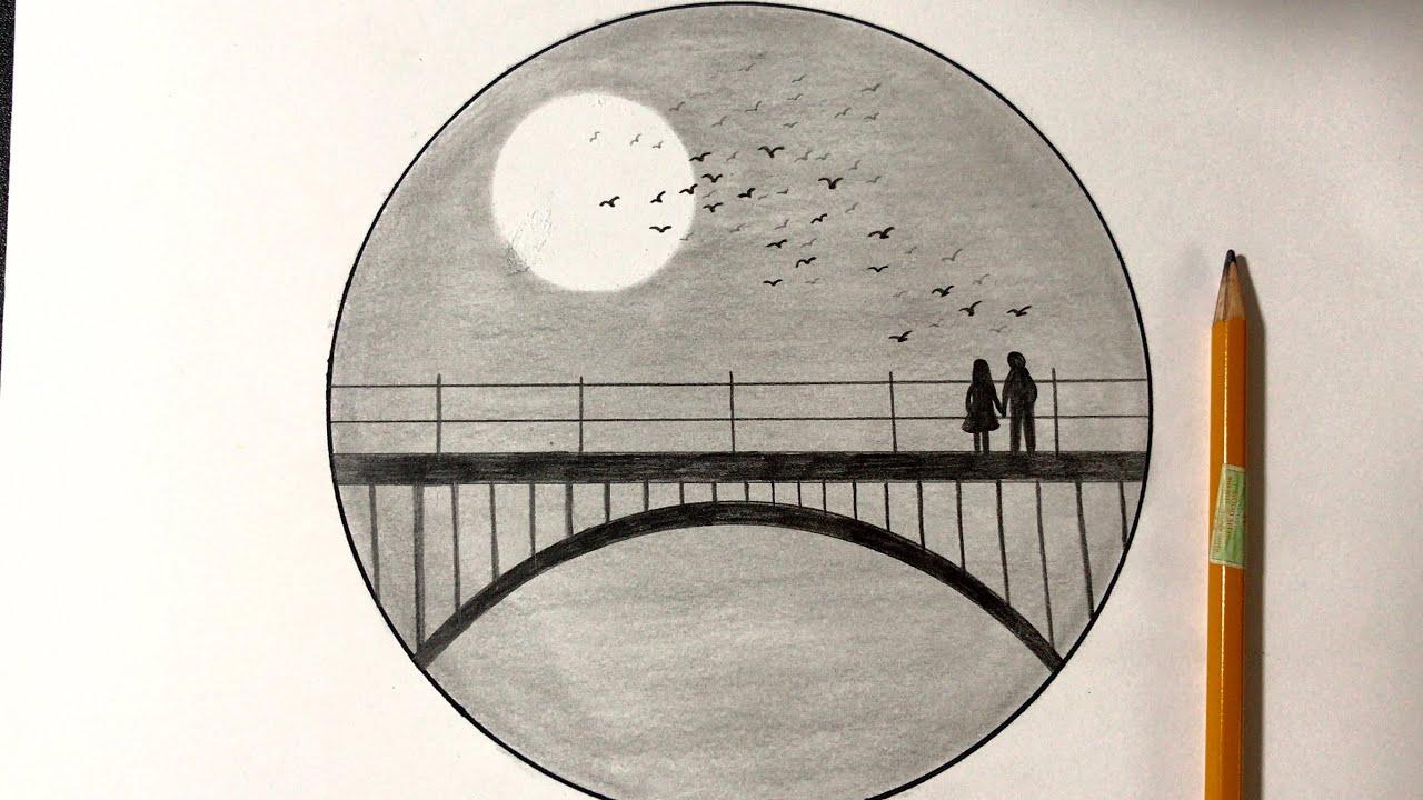Vẽ Tranh Phong Cảnh Bằng Bút Chì Đẹp   how to draw scenery with pencil   Tất tần tật những kiến thức về vẽ tranh phong cảnh đúng nhất