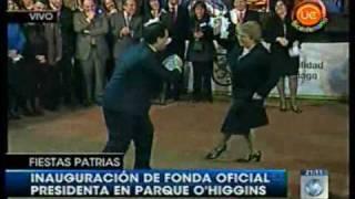 Primer pie de cueca Fondas Parque O' Higgins 2009 - Pablo Zalaquett y Michelle Bachelet