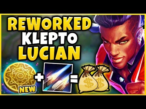 REWORKED KLEPTO + SEASON 9 LUCIAN = INFINITE PROCS (ACTUALLY BROKEN) NEW KLEPTO  - League Of Legends