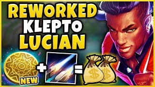 REWORKED KLEPTO + SEASON 9 LUCIAN = INFINITE PROCS (ACTUALLY BROKEN) NEW KLEPTO  - League of Legends