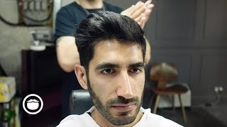 Growing Out a Hard Side Part With a Transitional Haircut thumbnail