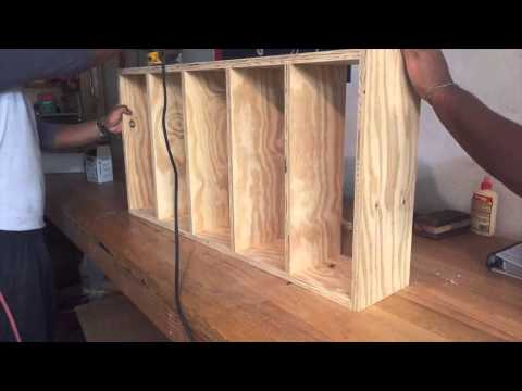 How To Build DVD Shelves