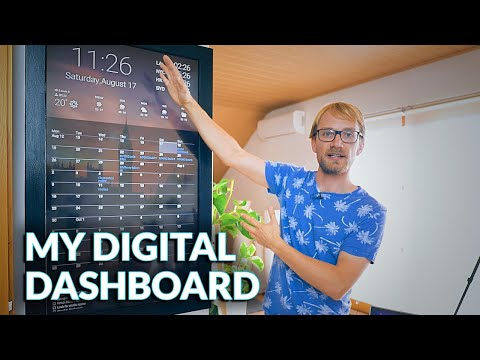 Making a Digital Dashboard! (w/ Google Calendar integration)