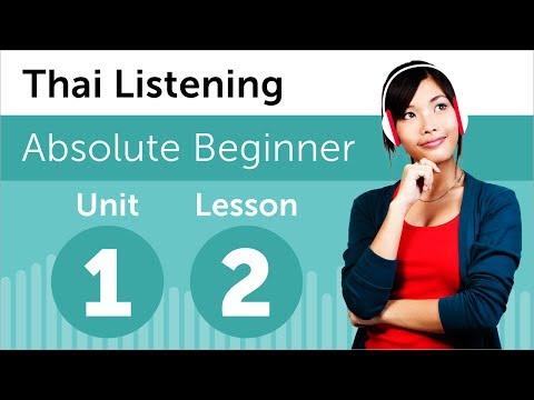 Luyện nghe tiếng Thái A1- Bài 2: Tại nhà hàng