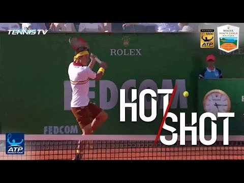 Hot Shot: Nishikori Hits Flying Drop Shot In Monte-Carlo 2018
