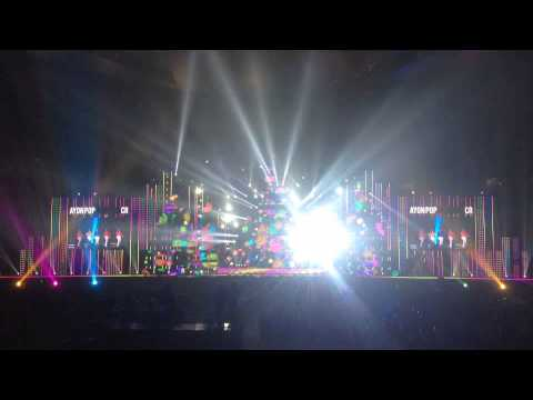 Hi-ltte beam lights in Beijing Bird's nest of Korsean Music Wave