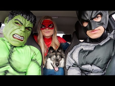 Superheroes Surprise Kakoa With Dancing Car Ride!
