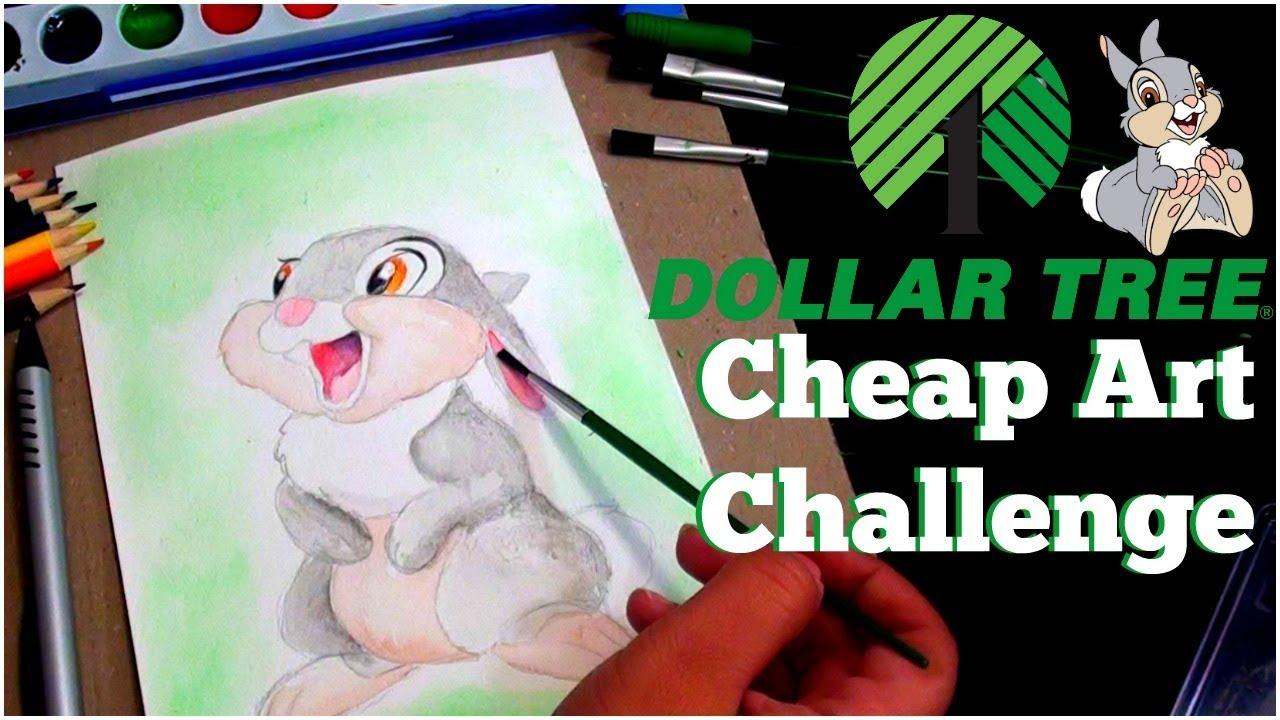 Cheap Art Challenge Dollar Tree Supplies