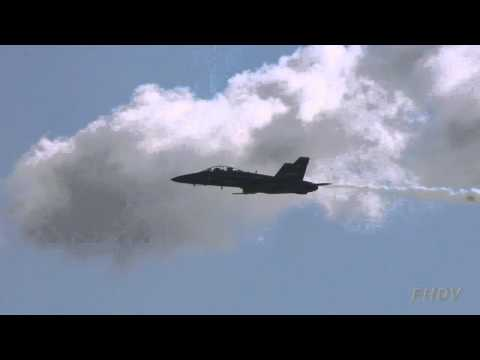 Blue Angels Knife Edge Pass with Slow Motion Replay - Miramar Air Show 2012