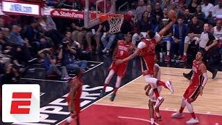Rajon Rondo flips it off the glass to Anthony Davis for ridiculous alley-oop vs. Clippers | ESPN