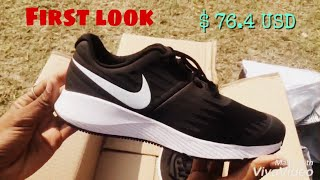 Unboxing NIKE Black Star RUNNING SHOES | Myantra | $76.42 dollar | 2nd top pick of 2017 |