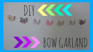 DIY Paper Bow Garland Thumbnail