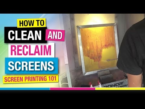How to Clean and Reclaim Screen Printing Frames for Reuse