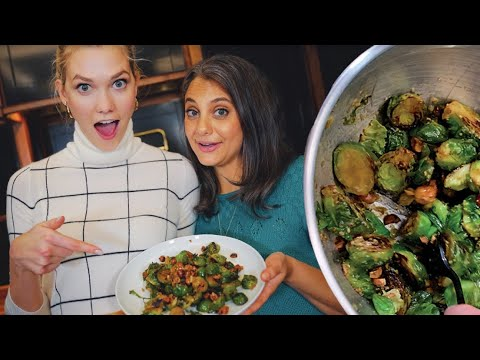 Thanksgiving Maple Dijon Brussels Sprouts | Klossy Learns to Cook