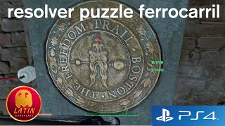 fallout 4 espaol resolver puzzle ferrocarril follow freedom trail gameplay