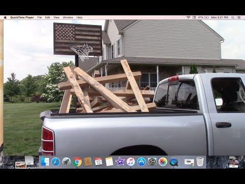 Peicing Together Pallets To Make A Pool Shed