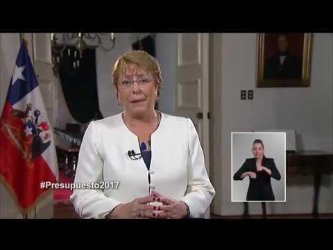 Cadena Nacional de la Presidenta Michelle Bachelet - 29 de septiembre 2016