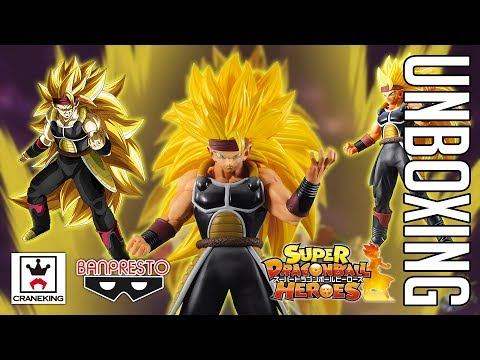 SUPER SAIYAN 3 DAD! XENO BARDOCK DRAGON BALL HEROES FIGURE UNBOXING!