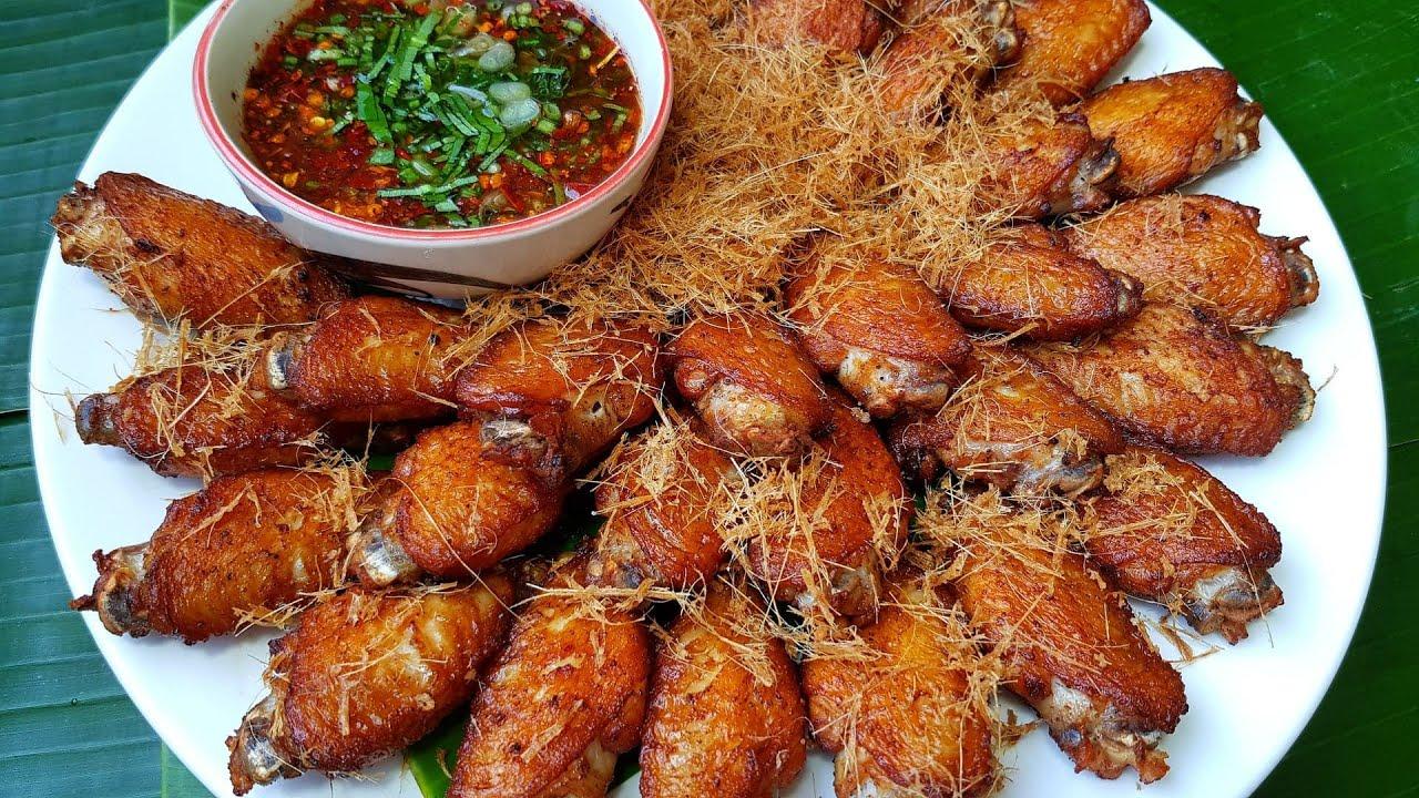 กับข้าวกับปลาโอ 629 : ปีกไก่ทอดตะไคร้ ตะไคร้ทอดกรอบ น้ำจิ้มแจ่ว  Thai fried chicken lemongrass