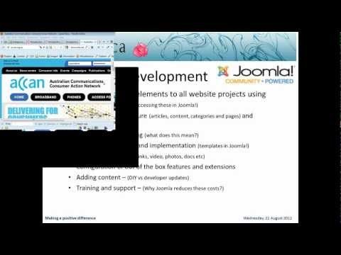 Introduction To Joomla Content Management System Webinar Recording