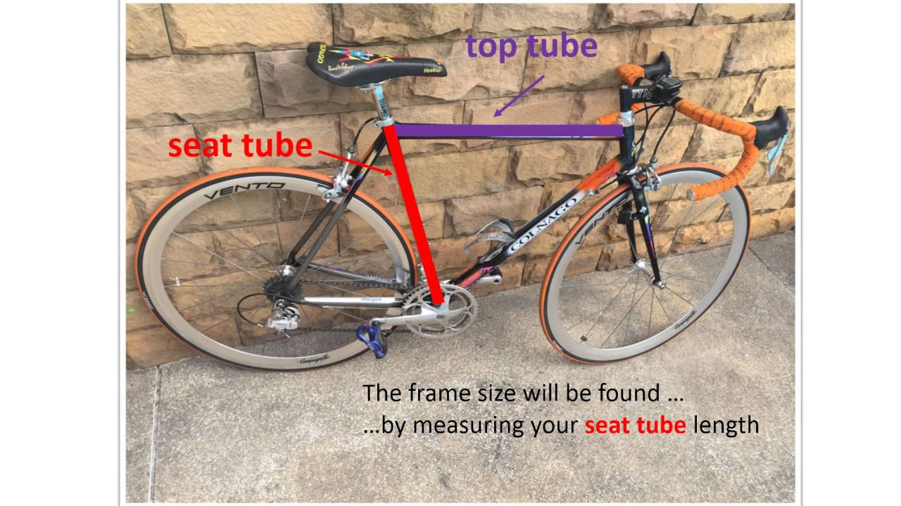 Measure bicycle - frame size - YouTube