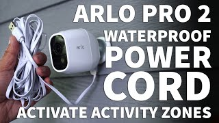 Arlo Pro 2 Activity Zone Setup – Lanmu 16 Foot Waterproof USB Power Cord Extension for Arlo Pro