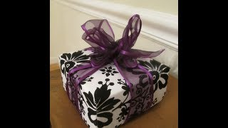 Part 1: How To Make A Gift Box From Scrapbook Paper -- Thrift Diving