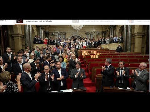 1st October 2017 vote - firey debate- Homage To Catalonian Independence - like Brexit