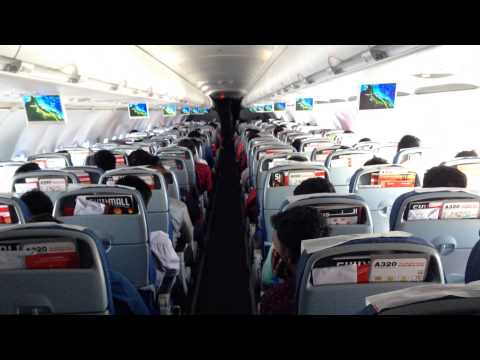 Air Arabia flight inside view