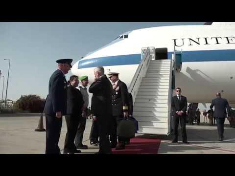 Secretary of Defense Jim Mattis Arrives in Israel, April 20, 2017